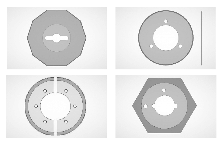 Kruhové nože se spojitým ostřím